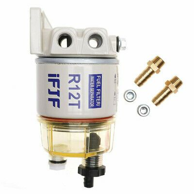 Details About Water Separator Fuel Filter Racor R12t With Fittings