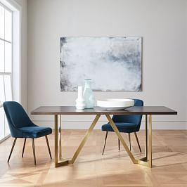 Tower Dining Table Concrete West Elm Dining Room West Elm