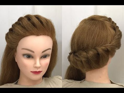 Popular Hairstyle For Long Hair With Front Puff Youtube Eyes In