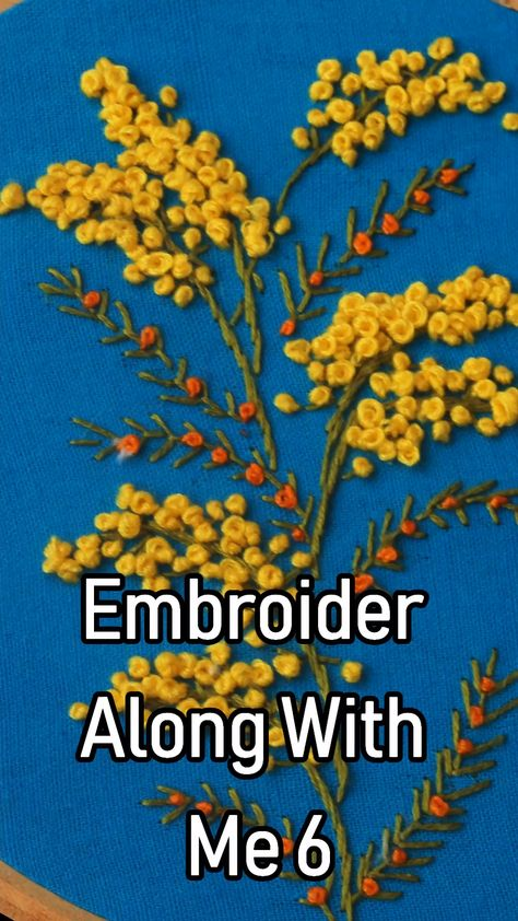 Learn how to work this pattern #embroidery #handembroidery