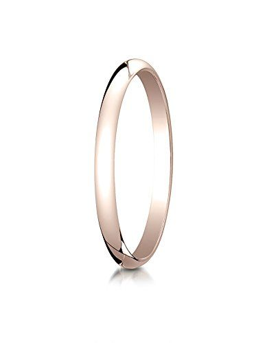 18K White Gold 2.0mm Slightly Domed Traditional Oval Wedding Band Ring for Men /& Women Size 4 to 15
