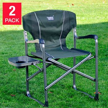 Timber Ridge Director S Chair 2 Pack With Side Table Lightweight