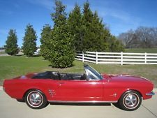 Ford : Mustang Convertible 1966 ford mustang convertible 200 i 6 with power top pony interior