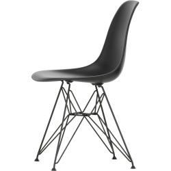 Designer Furniture Eames Plastic Side Chair Dsr With Plastic Glides Jet Black Black Vitravitra Beautifulcelebrities Designer