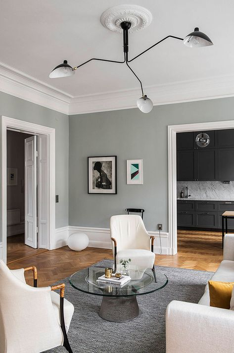 〚 When space and color are awesome: apartment in Stockholm 〛 #interior #design #Home #decor #idea #inspiration #cozy #style #living #olive #livingroom #scandi