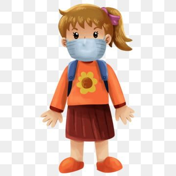 Girl Wearing Mask Go To School Illustration Girl Clipart Girl Kids Png Transparent Clipart Image And Psd File For Free Download School Illustration Girl Clipart Children Illustration