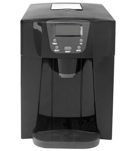 Contoure Rv 225 Black Countertop Ice Maker Black Water