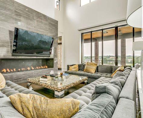 Grand Grey Velvet Square Sofa Set