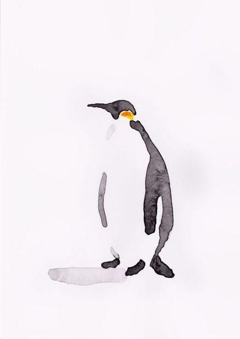 Pinguin Melerei Ideen Aquarellbilder Fur Anfanger Aquarell