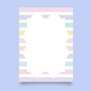 بطاقة فارغة مع لون قوس قزح Blank Cards Rainbow Colors Rainbow
