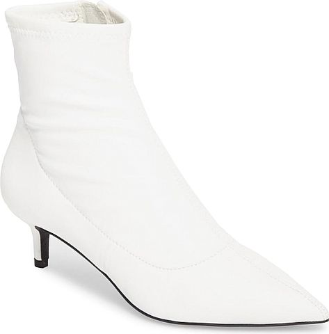 902f513c96 Women's Free People Marilyn Kitten Heel Bootie in White. A dainty kitten  heel adds a little lift and a lot of style to these on-trend point-toe  booties.