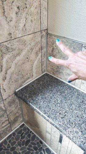 Eliminate Cracks In Tiled Wall Corners Caulk Vs Grout Just Needs Paint In 2020 Caulk Grout Bullnose Tile