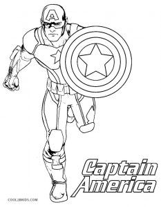 Captain America Coloring Sheet Free Coloring Library
