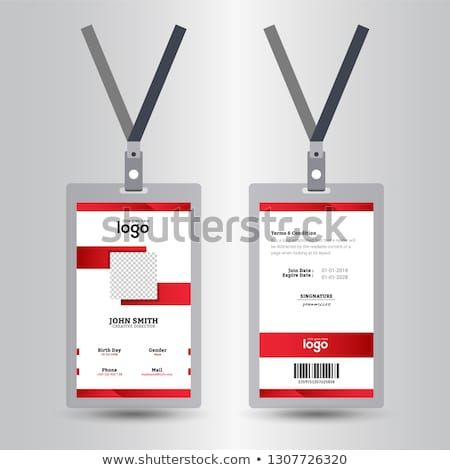 Identification Card With Lanyard Set Isolated Vector Illustration Blank Plastic Access Card Identity Card Design Free Printable Business Cards Employees Card