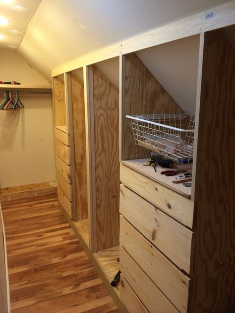 Master Closet Upgrade For Slanted Roof By Janet