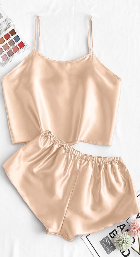 Style: Casual Material: Polyacrylic,Polyurethane Collar-line: Spaghetti Strap Pattern Type: Solid Decoration: None Season: Spring,Summer Cute Sleepwear, Sleepwear Women, Lingerie Sleepwear, Nightwear, Sexy Pajamas, Pajamas Women, Boys Pajamas, Pyjamas, Cute Lazy Outfits