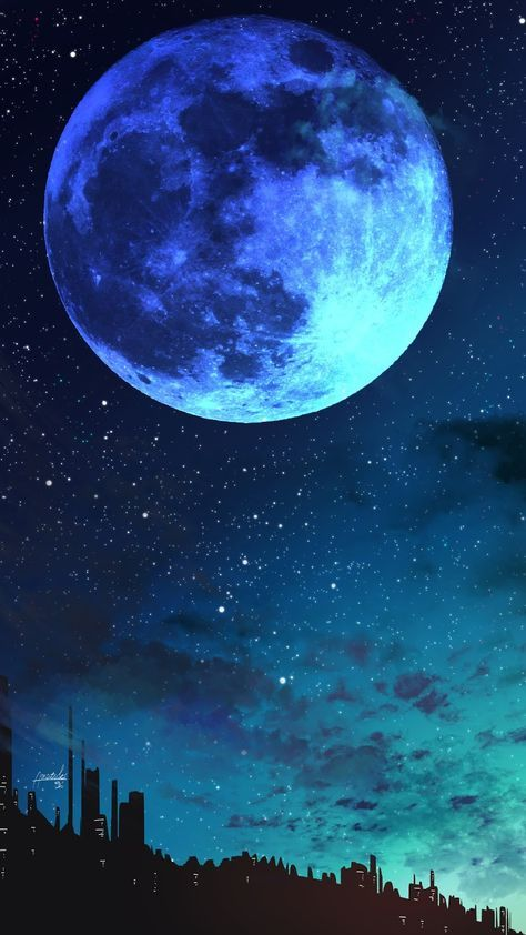 Blue Moon Wallpaper Iphone Android Background Followme Scenery Wallpaper Galaxy Wallpaper Beautiful Wallpapers Backgrounds