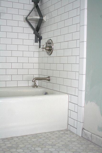 Les 24 meilleures images à propos de White subway tiles sur - Pose Brique De Verre Salle De Bain