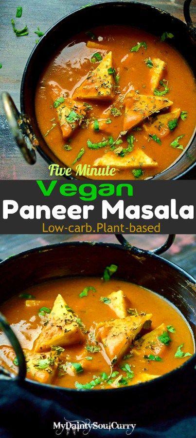 Easy Five Minute Vegan Paneer Masala Bloggers Amazing Good