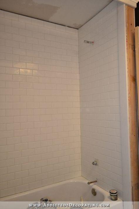 Subway Tile Bathtub Surround - Addicted 2 Decorating®