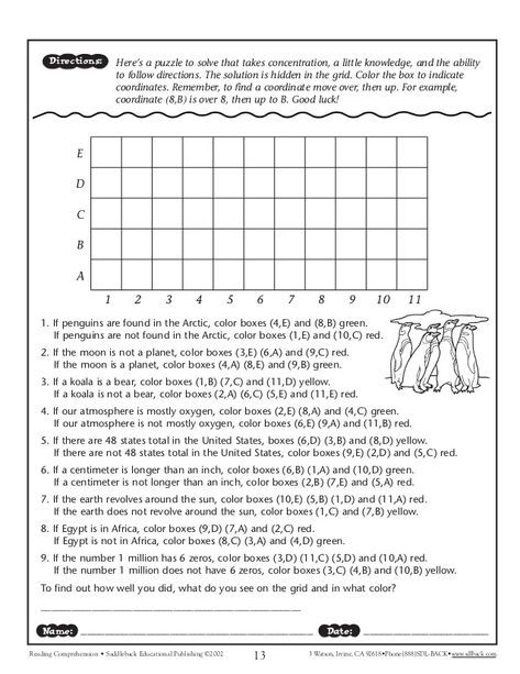 Following Directions Worksheet Middle School - Google Search Reading  Worksheets, School Worksheets, Following Directions