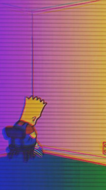 Bart Black Wallpaper Iphone Kartun Seni Gelap Seni