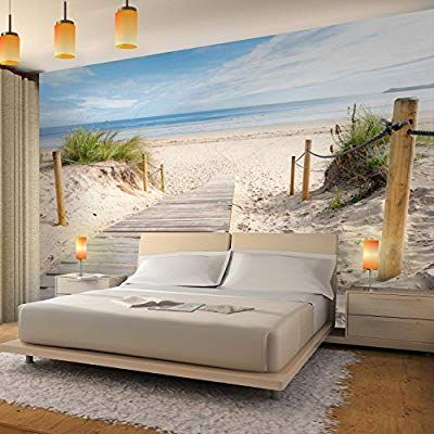 Fototapeten Strand Meer 352 x 250 cm Vlies Wand Tapete ...