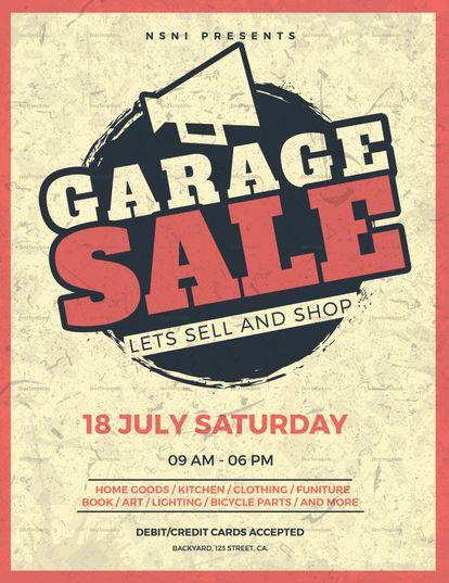 Vintage Garage Sale Flyer Template Sale Flyer Flyer Template