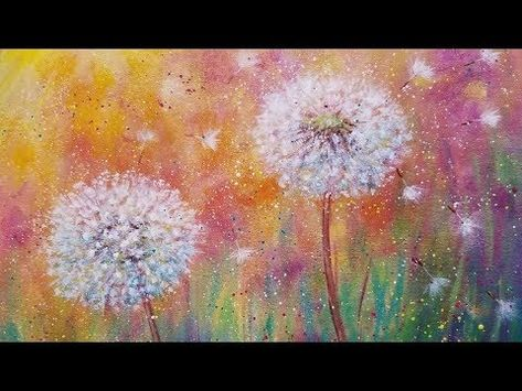 Dandelion Wildflowers LIVE Beginner Acrylic Painting Tutorial Z