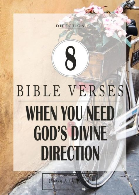When You Need God's Divine Direction – Bible Verses For