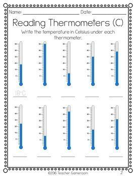 Reading Thermometers Worksheet In 2020 Fyzika Vzdelavani