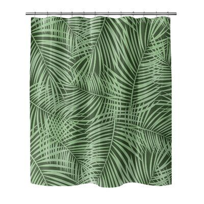 Bay Isle Home Oloran Palm Play Single Shower Curtain Size 90 H X