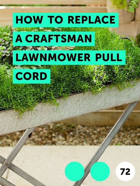 How To Replace A Craftsman Lawnmower Pull Cord With Images Lawn Mower Craftsman Yard Maintenance