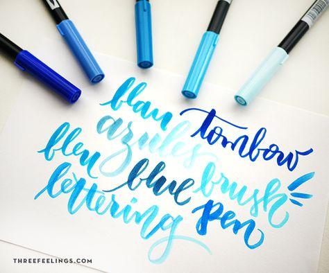 En este pack de cinco rotuladores Tombow azules van incluídos todos los tonos que necesitas para que tus diseños transmitan el placer de la brisa marinera y cielo despejado. Ya sabes que en esto del lettering y la caligrafía y tantas posibilidades como materiales. Lo que ahora se lleva son los Tombow, rotuladores acuarelables con …