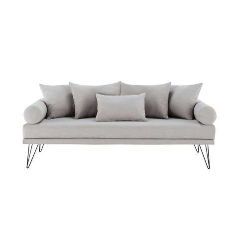 3 seater fabric sofa bench in putty Mad Men   home desing design ...
