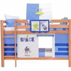 Etagenbett Spielbett Buche Vollholz Massiv Natur Inkl Rollrost 90 X 200 Cm Mark Natur Weltraum 281 In 2020 Childrens Loft Beds Play Beds High Beds