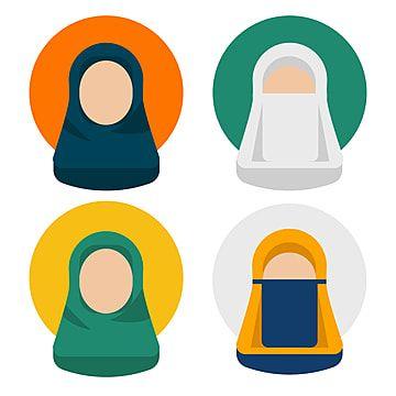 Gambar Kumpulan Ilustrasi Wanita Islamic Yang Mengenakan Jilbab Jilbab Vektor Avatar Png Dan Vektor Dengan Latar Belakang Transparan Untuk Unduh Gratis Avatar Ilustrasi Ilustrasi Wanita