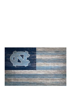 Fan Creations Ncaa University Of North Carolina Tarheels 11 In X 19 In Distressed Flag Fan Creations Distressed Flag North Carolina Tar Heels