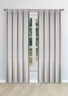 Kelvin Sera Solid Blackout Curtain Set Silver 96 In Blackout