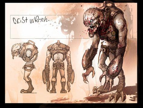 Gears Of War Geist Wretch Cool Gears Of War Pinterest монстров