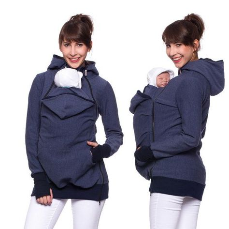 3bc97a553b4af Viva la Mama | The 3in1 denim-blue long-sleeved nursing & baby carrier  hoodie FERIS Active is your perfect companion for maternity, pregnancy, baby  wearing ...
