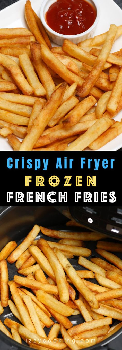 This is the BEST way to cook frozen French fries in the Air Fryer! Its so perfectly golden and crisp on the outside and fluffy and tender inside. Dip into your favorite sauce and the result is always amazing! Air Fry French Fries, Crispy French Fries, Best French Fries, Air Fryer Dinner Recipes, Air Fryer Recipes Easy, Air Fryer Recipes Without Oil, Air Fryer Recipes For French Fries, French Fries Recipe, Digital Marketing Strategy