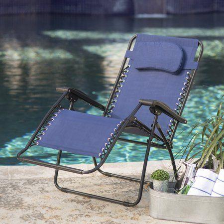 Caravan Sports Oversized Zero Gravity Chair Blue Walmart Com Zero Gravity Recliner Outdoor Recliner Zero Gravity Chair