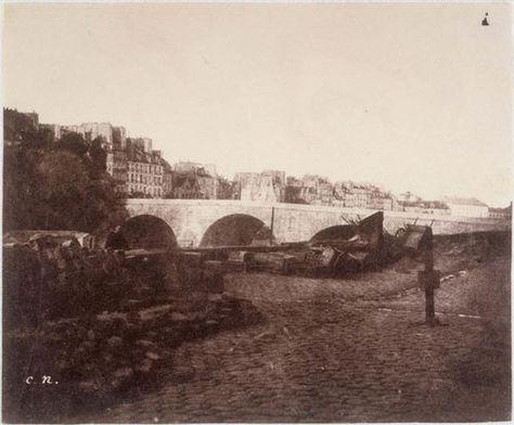Pont Marie et quai des Célestins, vus du quai Bourbon vers 1850 (Photo Charles Nègre)