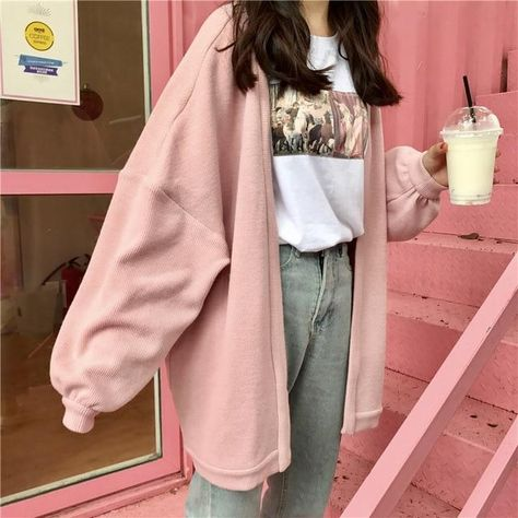Aesthetic pastel loose cardigan