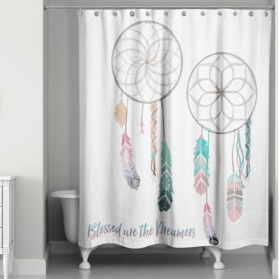 Blessed Are The Dreamers Shower Curtain Dream Catcher Shower