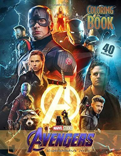 Free Pdf Avengers Endgame Coloring Book Coloring Books For Kids And Adults 40 High Quality Illustrations Free Epub Mob Captain America Canvas Avengers Marvel
