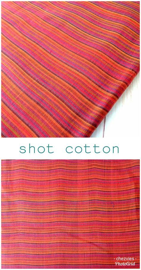 striped shot cotton hand woven Handloom cotton fabric #dressmaterial #fabric #sew #handwoven #indianfabric #chezvies #etsy
