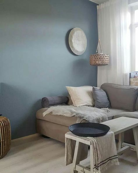 Denim drift, idee kleur woonkamer muur https://s-media-cache-ak0 ...