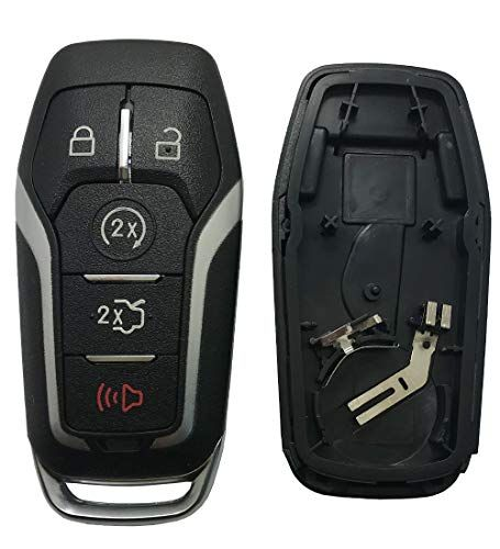 Keyless Entry Remote Smart Key Fob Case Fit For Ford Explorer Mustang Edge Fusion 5 Buttons Replacement Key Fob Cover With Button With Images Ford Explorer Smart Key Ford